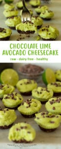 Chocolate Avocado Lime Cheesecake Recipe - Easy, Dairy-free and Healthy