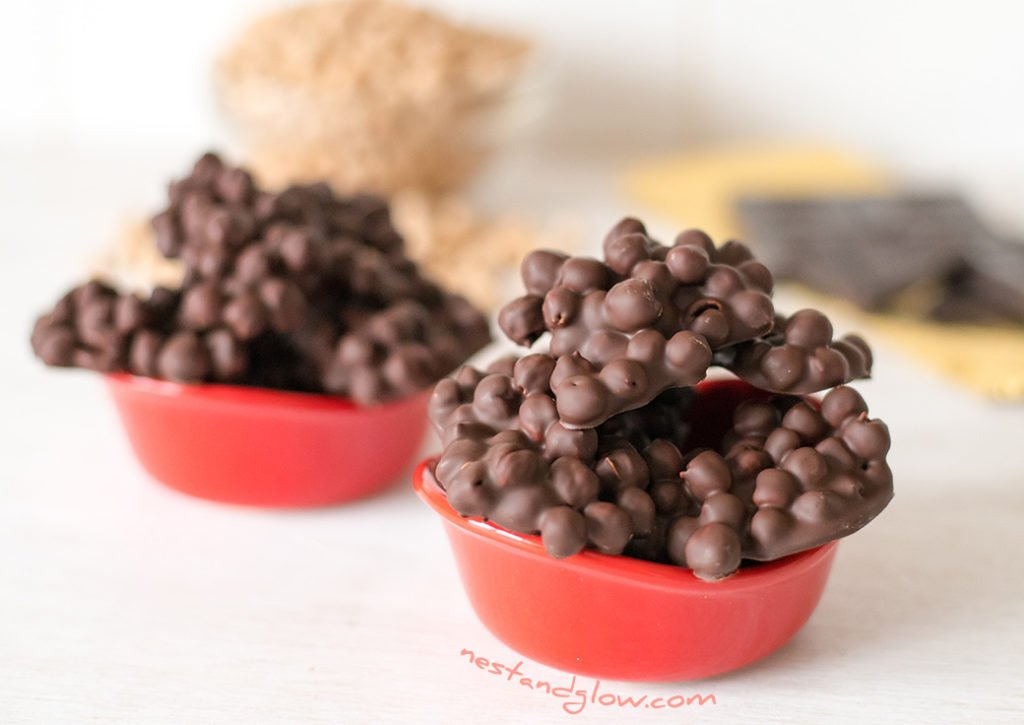 Two ingredient chickpea chocolate