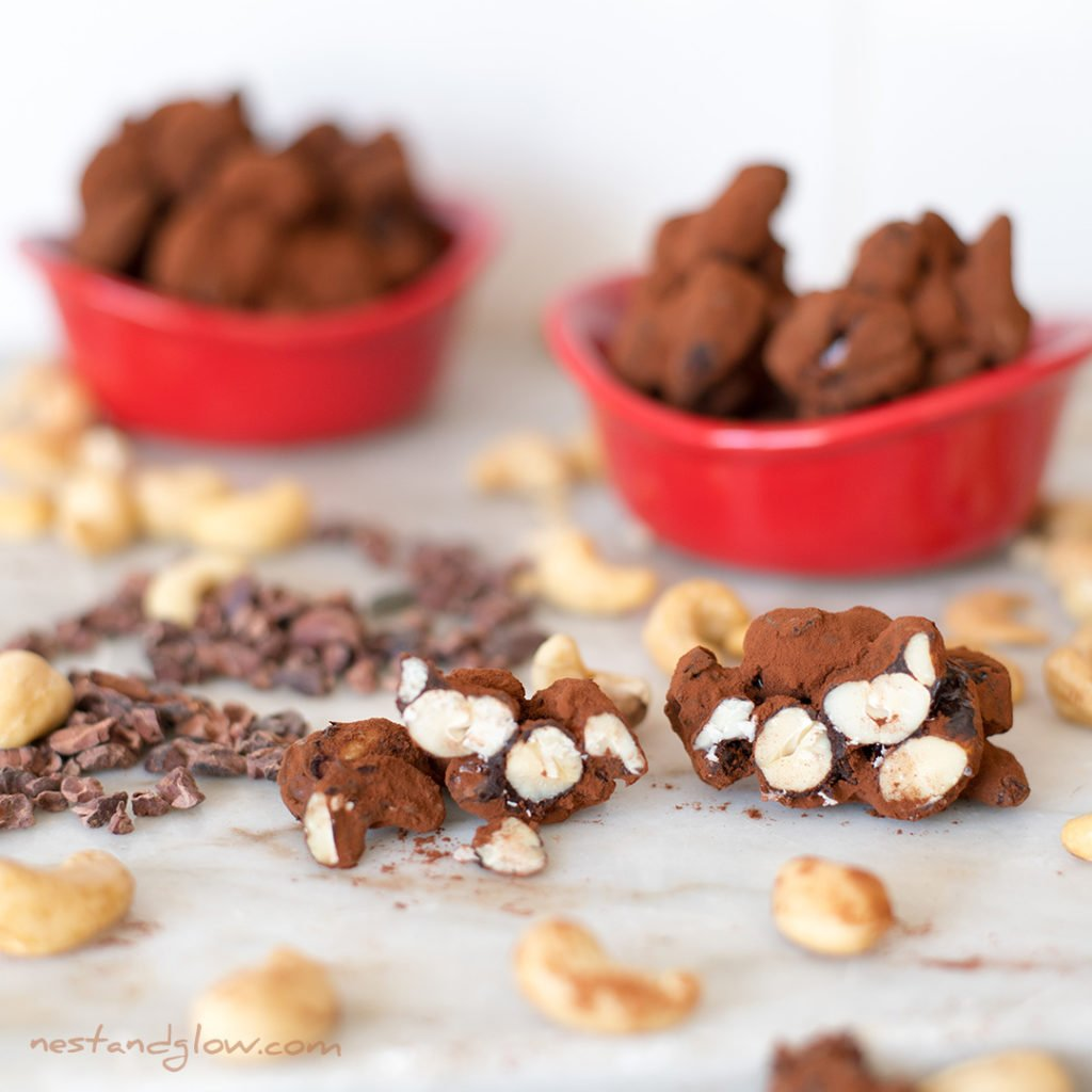 cacao chocolate cashew clusters