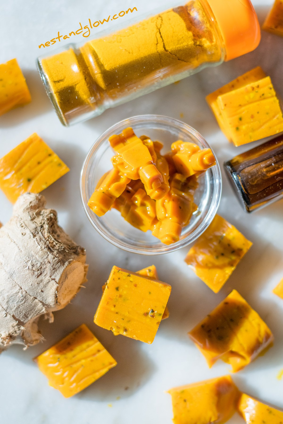 CBD Infused Sweets with Turmeric and Ginger Recipe