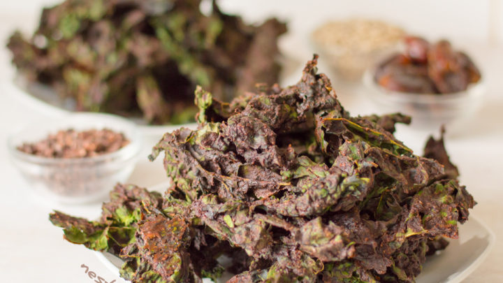 kale chips recipe cocoa powder Chocolate Kale Chips - vegan and nut free