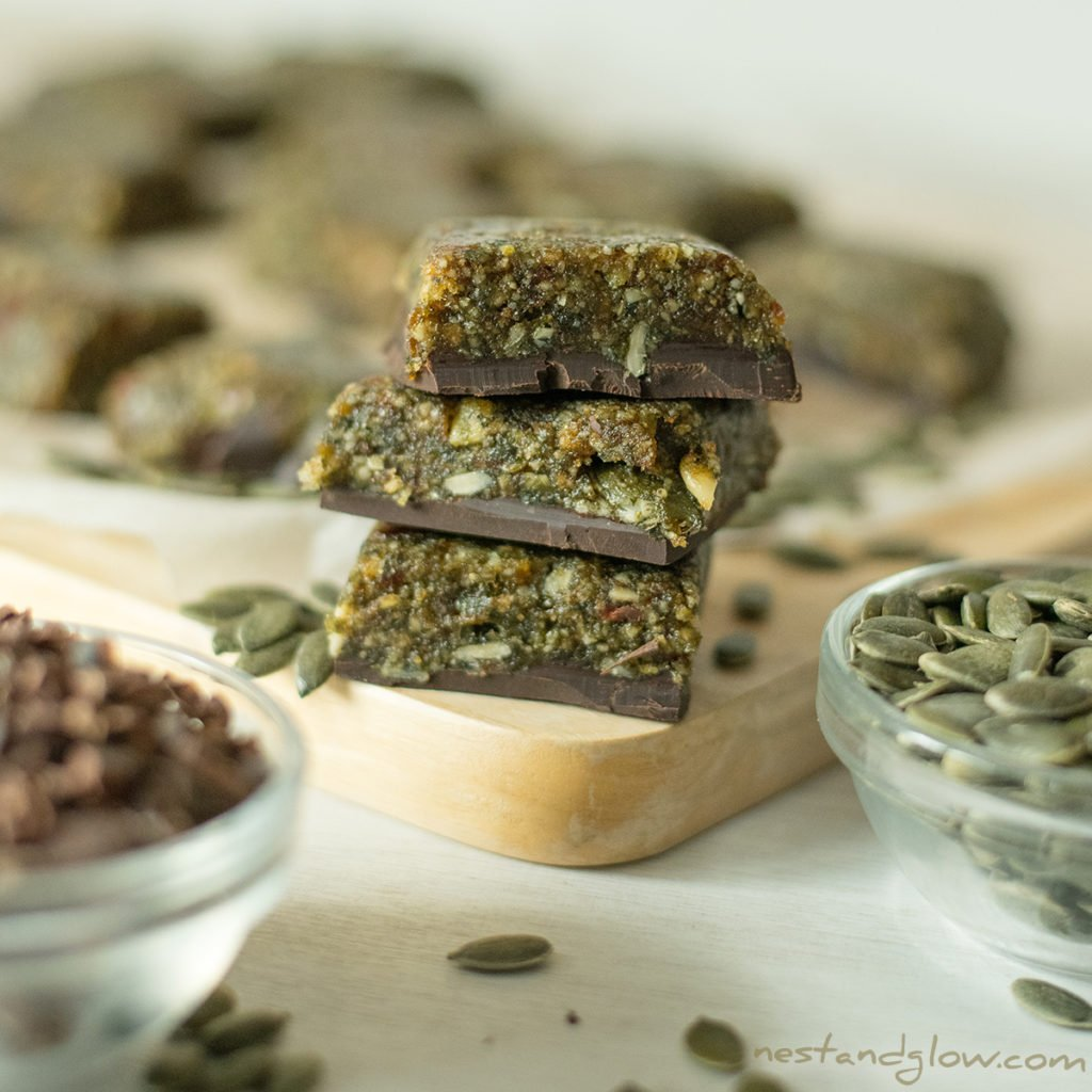 3 Ingredient Pumpkin Seed Chocolate Candy Recipe