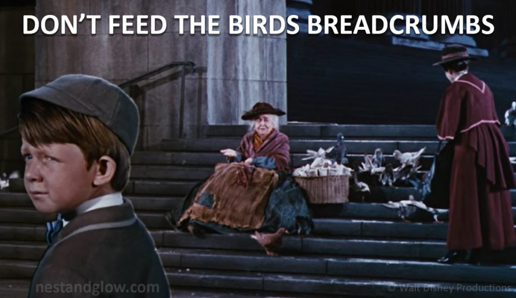 mary poppins feeding bread is killing birds