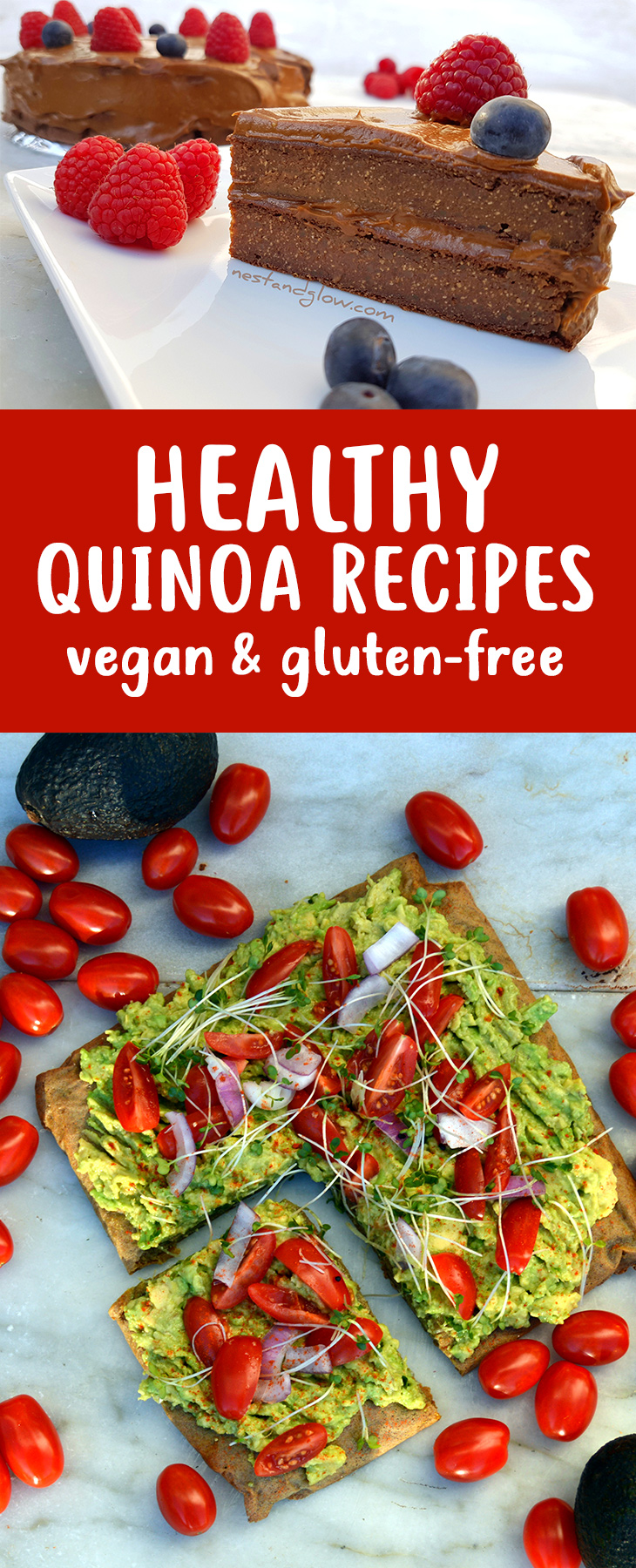 Healthy Quinoa Recipes - vegan & gluten free