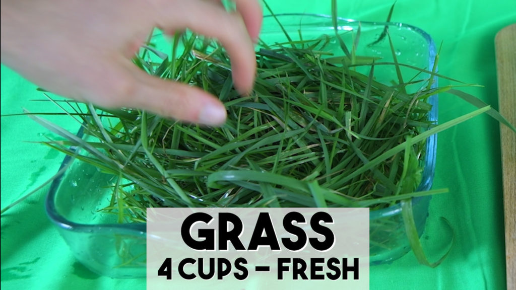 Regrow fruit with fresh grass