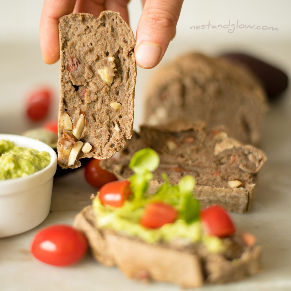 sprouted buckwheat bread