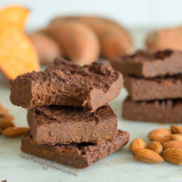 Sweet potoato almond brownie