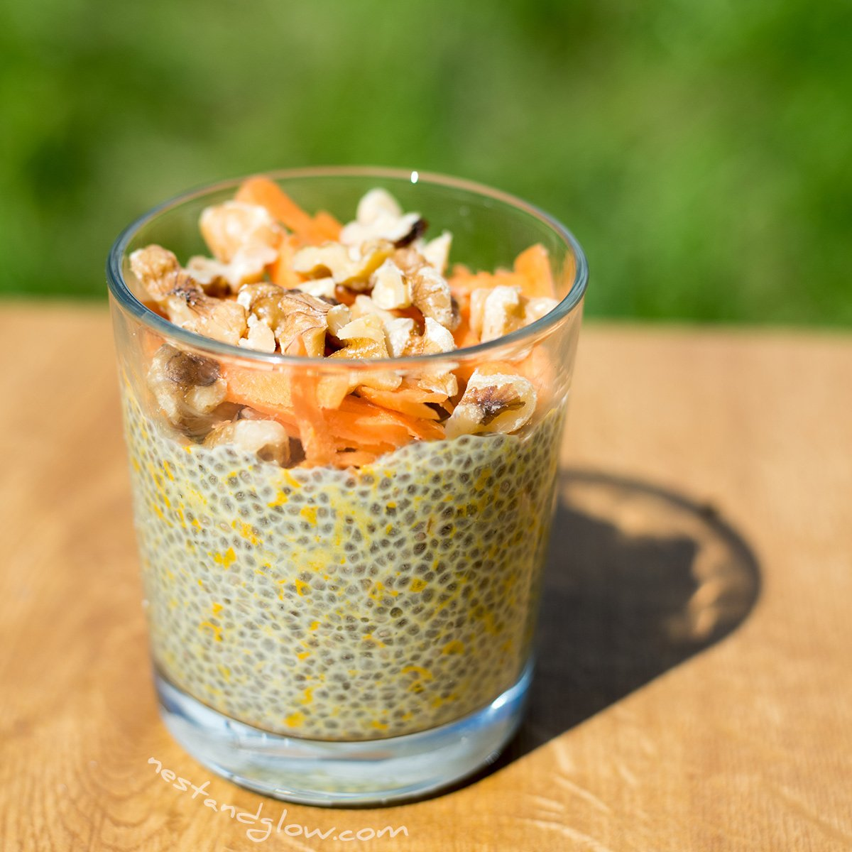 Overnight Carrot Cake Chia Pudding