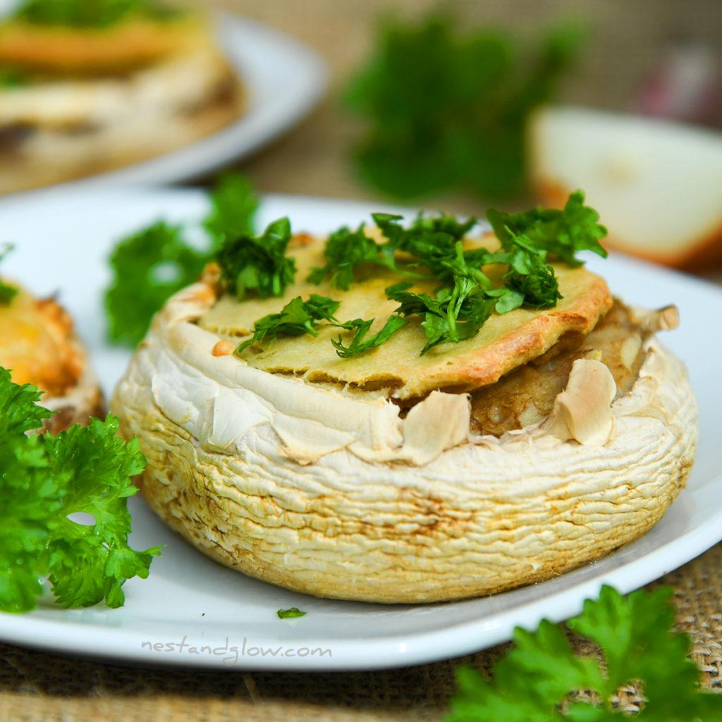 Quinoa Garlic Mushrooms close up