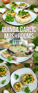 Quinoa Garlic Mushrooms Recipe - gluten-free and healthy