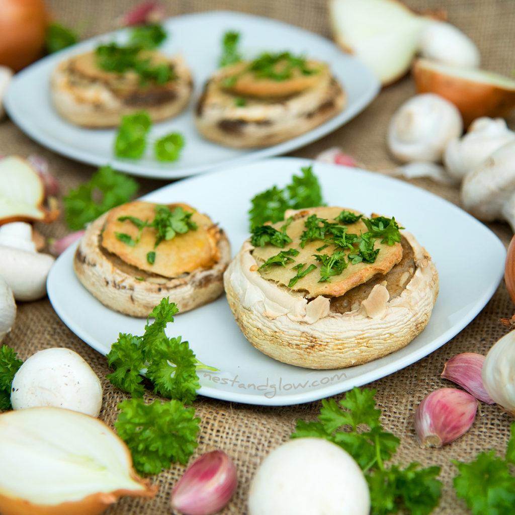 Quinoa Garlic Mushrooms Recipe high protein