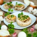 Quinoa Garlic Mushrooms