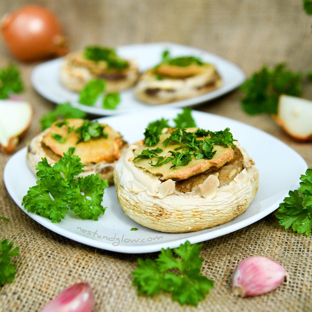 Quinoa Garlic Mushrooms easy healthy recipe