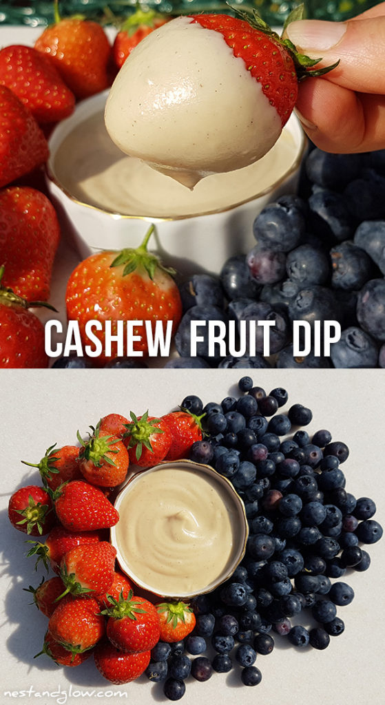 Cashew Fruit Dip - easy to make creamy dairy-free dip high in protein and heart-healthy fats
