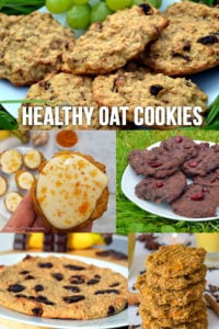 Healthy Oat Cookie Recipes - 5 different recipes for healthy cookies made without flour, eggs, butter and sugar #vegan #plantbased #recipe