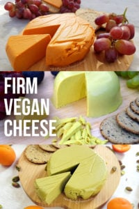 Vegan Cheese Recipes - all firm vegan cheeses that can be grated or sliced. Perfect on a pizza and includes vegan cheddar #dairyfree #plantbased #vegancheese #veganrecipe