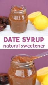 Natural sweetener recipe for date syrup that is cheap, healthy and full of good stuff. Date syrup uses are any recipes that call for no refined sugar and cakes like a quinoa chocolate cake. Benefits of date syrup are it contains fibre, inexpensive to make, high in antioxidants and is an excellent natural sweetener. #healthycooking #healthydiet #naturaldiet
