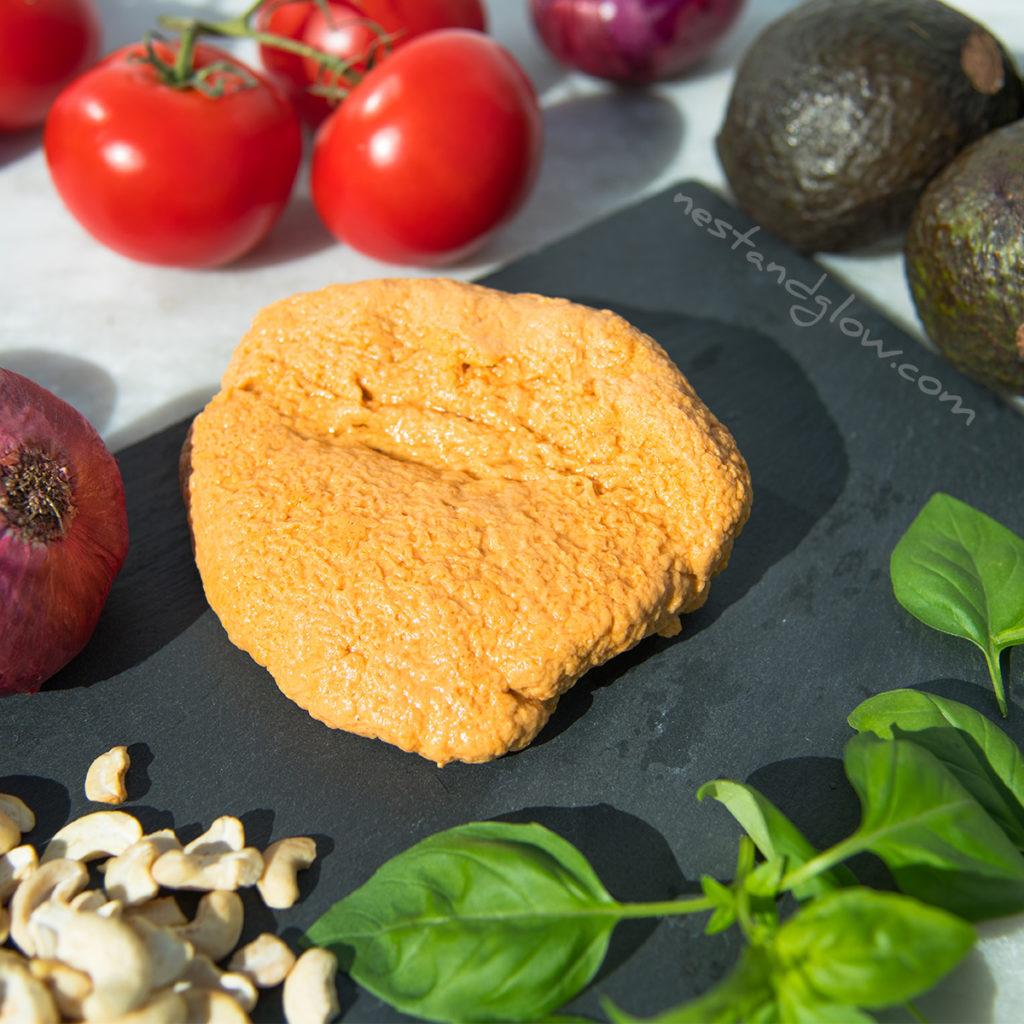 easy vegan cashew firm cheese