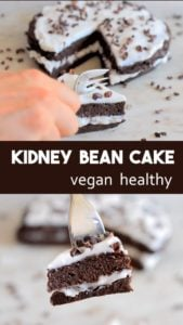 Kidney Bean and Coconut Chocolate Cake Recipe - easy and healthy recipe for chocolate cake that is tasty without any gluten, dairy, eggs, flour or refined sugar. #healthy #vegan #healthycake #vegancake #glutenfreee cake