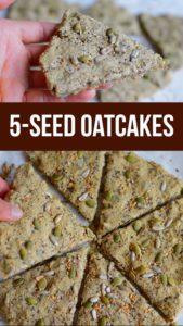 Oatcakes Recipe no flour, gluten free and healthy with added seeds #oatcakes #healthyrecipe #noflour #glutenfree