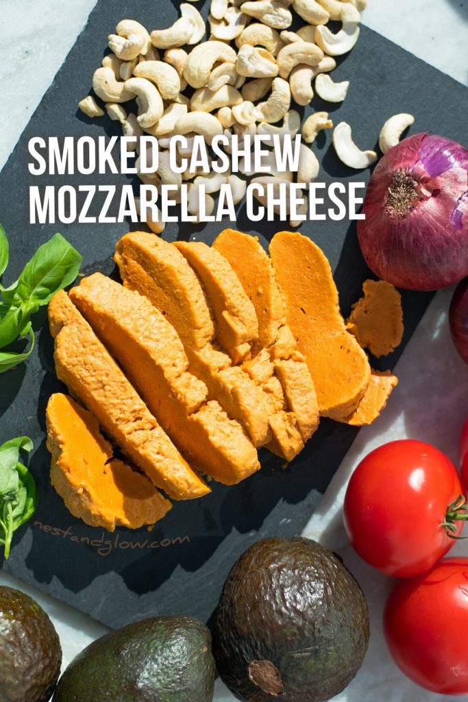 smoked cashew mozzarella cheese recipe - easy dairy-free cheese #vegan #veganrecipe #vegancheese