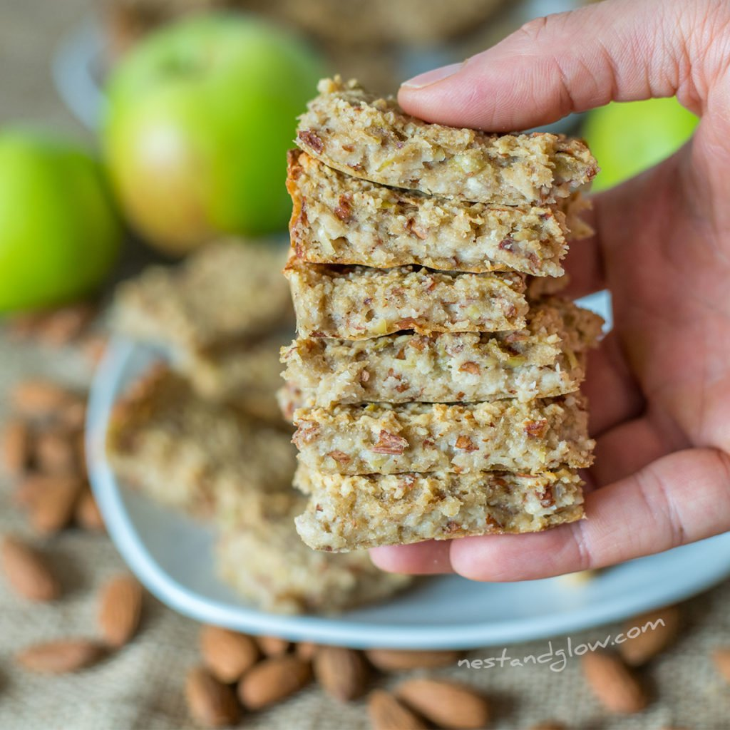 healthy recipe for apple almond breakfast bar