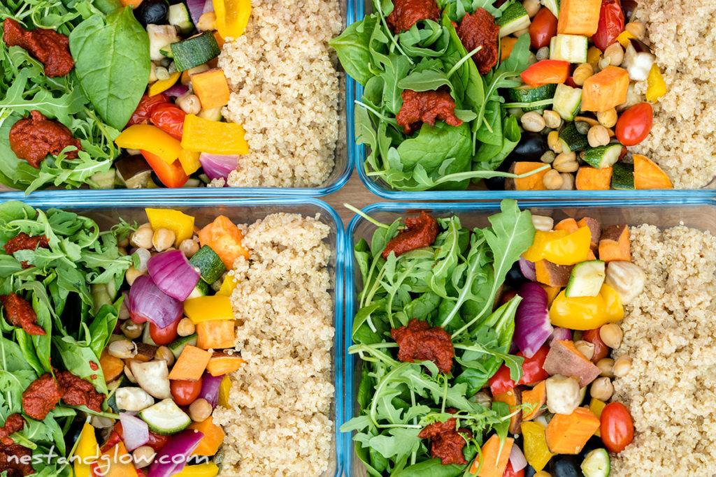 easy healthy quinoa salad vegan