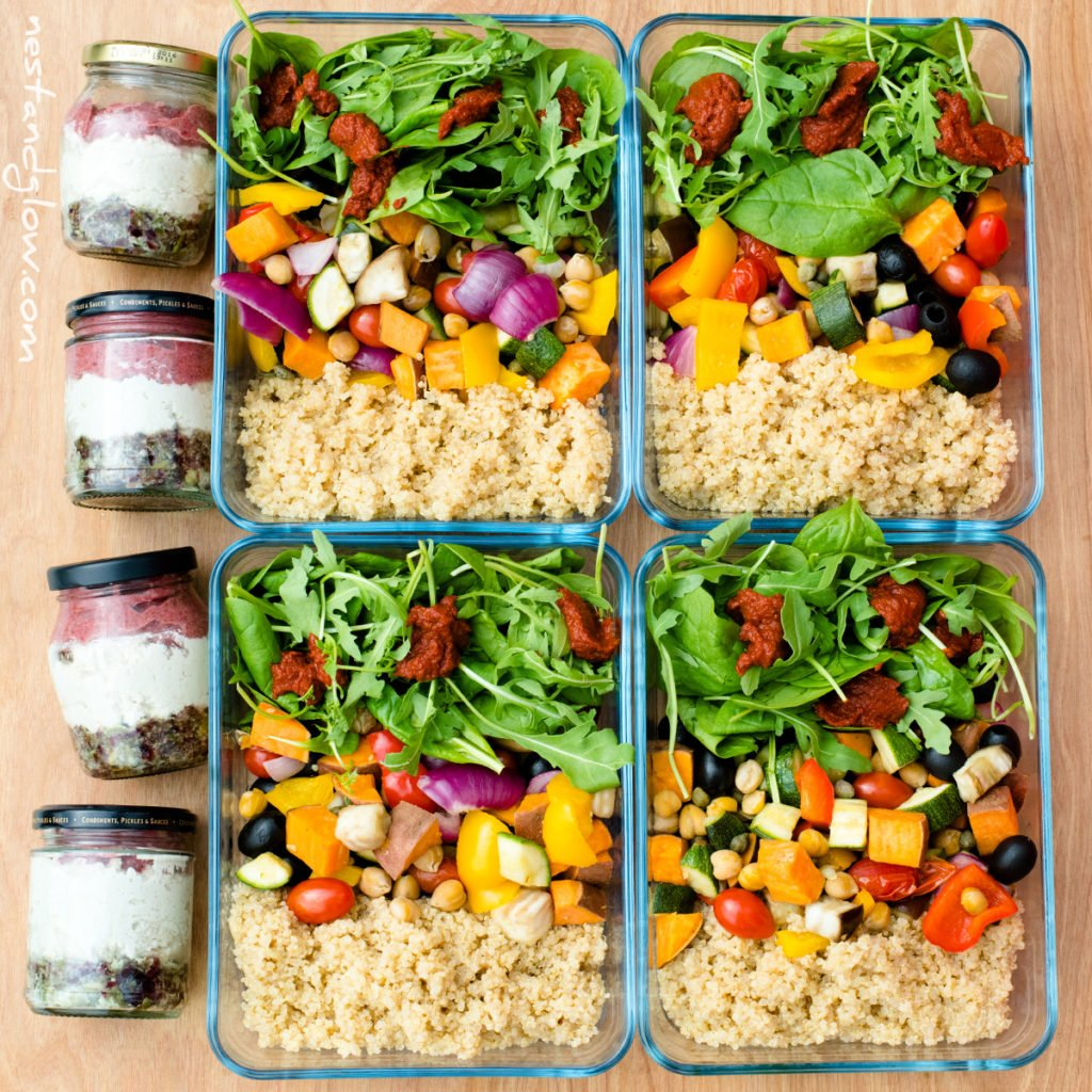 Easy High Protein Vegan Meal Prep Recipes - Nest and Glow