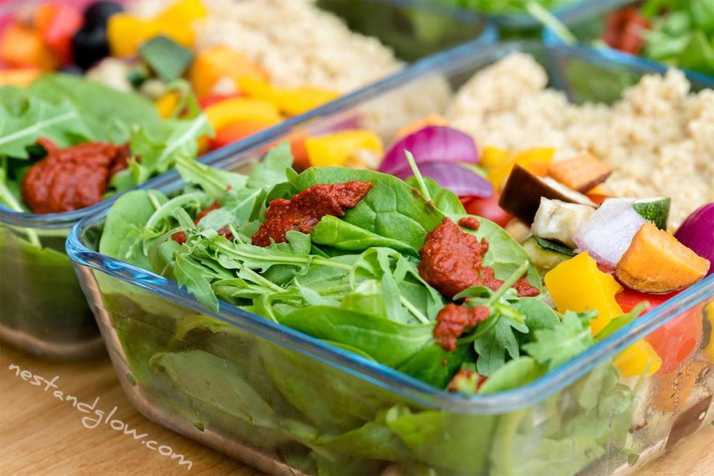 quinoa salad med veg oil free