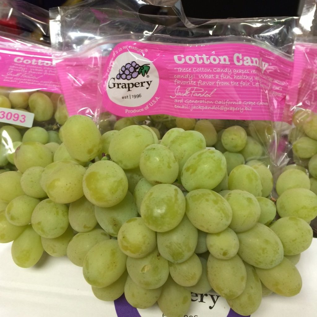 cotton candy healthy grapes