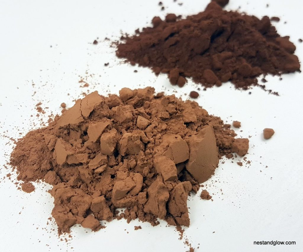cacao powder lighter than cocoa