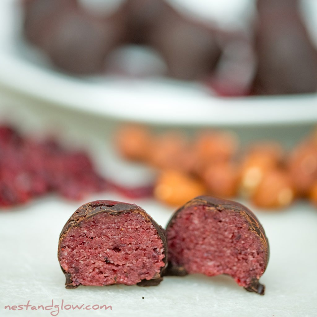 cherry chocolate balls healthy recipe