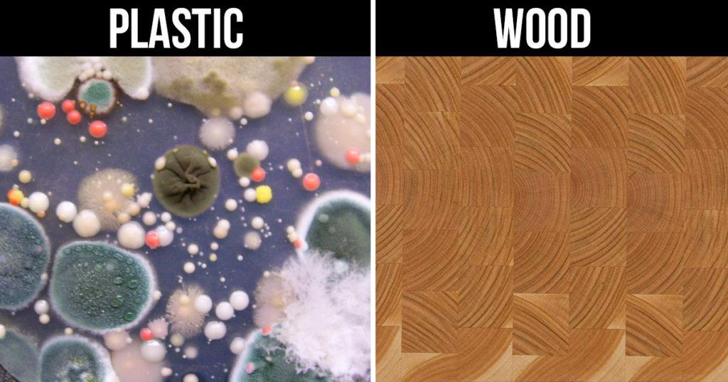 wood vs plastic chopping boards