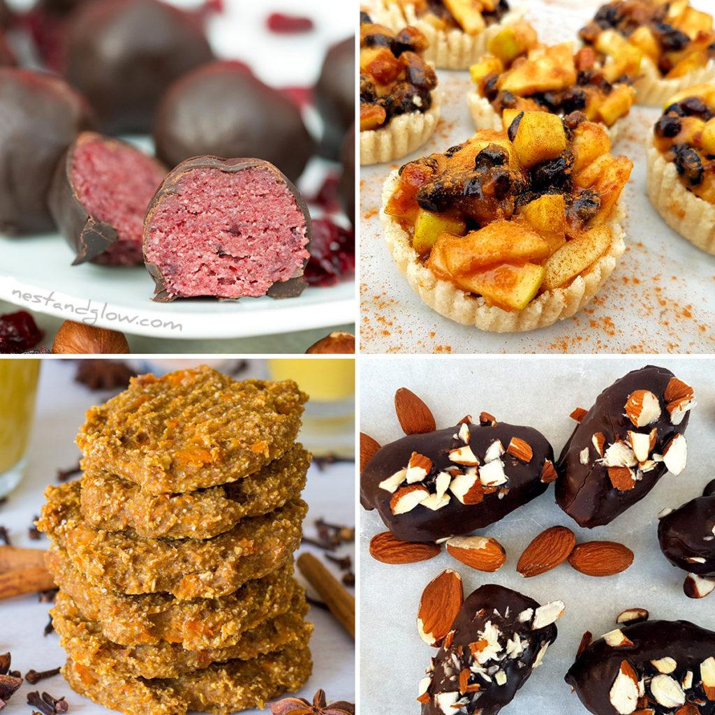 Christmas Snacks.Healthy Christmas Treat Recipes Vegan And Gluten Free Snacks