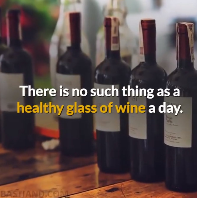 No such thing as healthy glass of wine