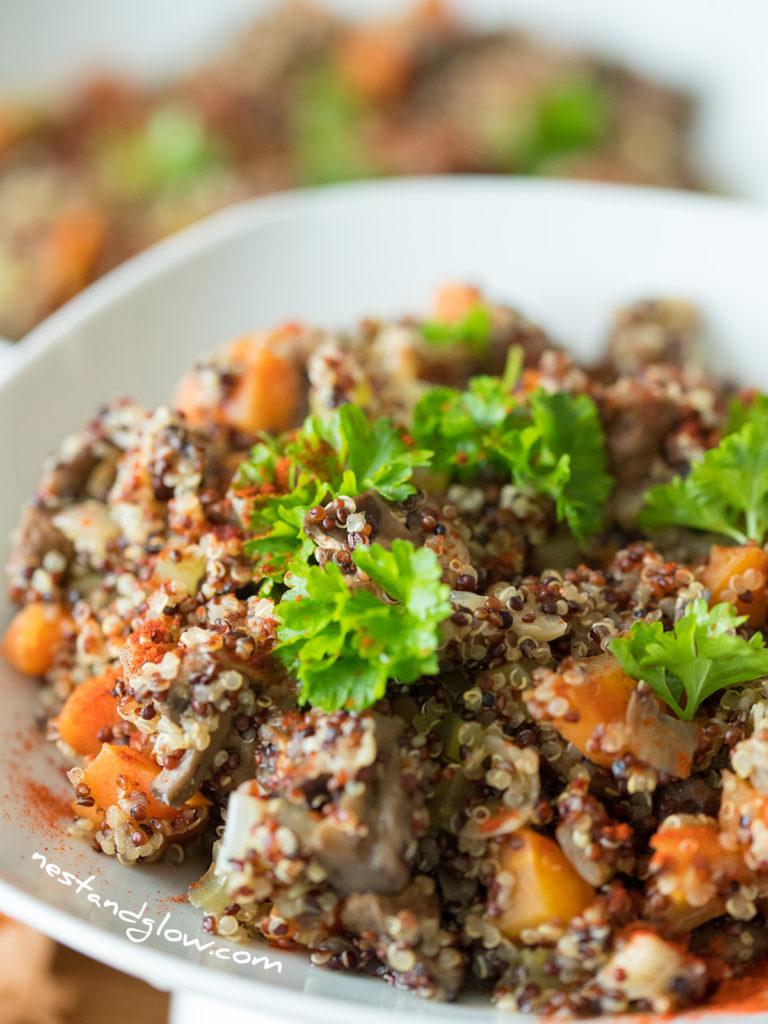 mushroom quinoa healthy recipe