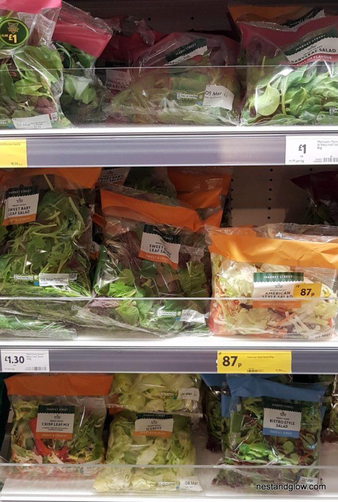 pre washed salad leaves