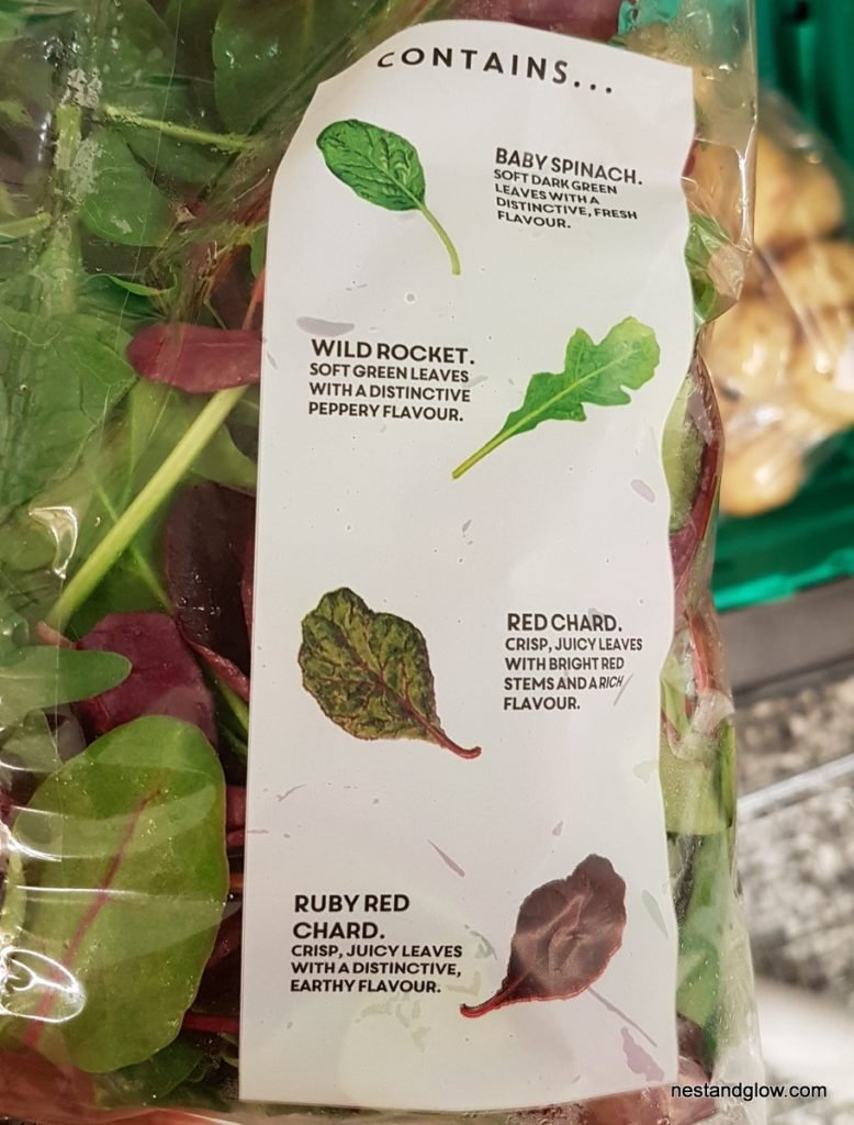 pre washed salad leaves types