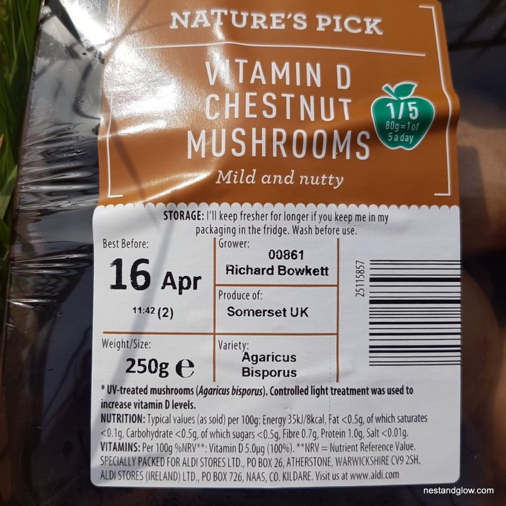chestnut vitamin d mushrooms