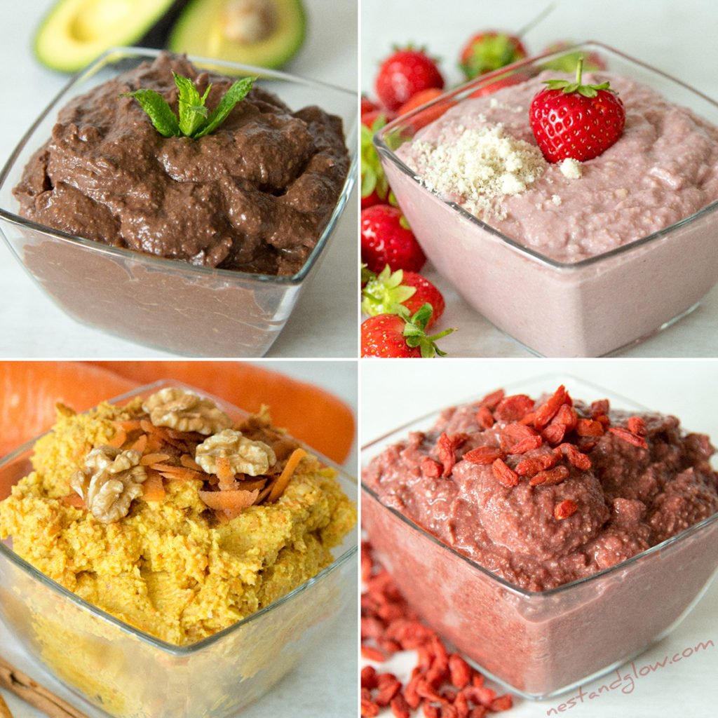 Sweet hummus dessert recipes that are all healthy. Includes chocolate avocado hummus, strawberry cheesecake hummus, carrot cake hummus and red velvet hummus. All of these dessert hummus recipes are vegan and full of goodness