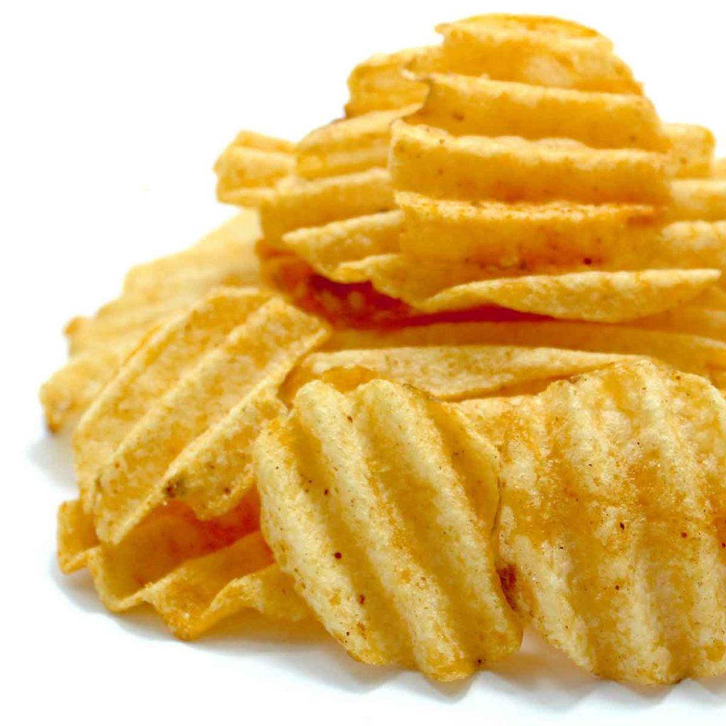 baked ribbed crisps