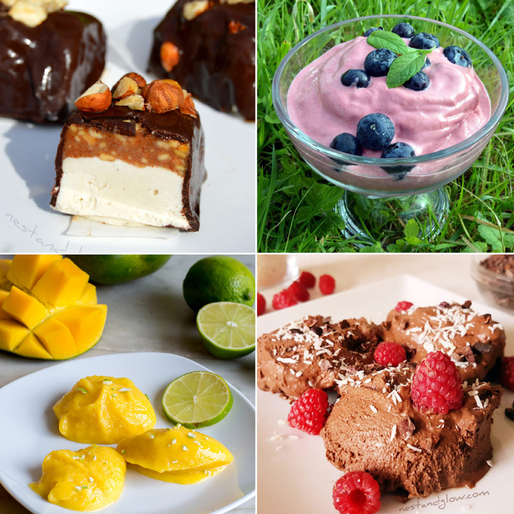 healthy ice cream recipes that are all no churn, vegan and easy to make. Full of heart healthy fats, plant protein and fiber without any junk