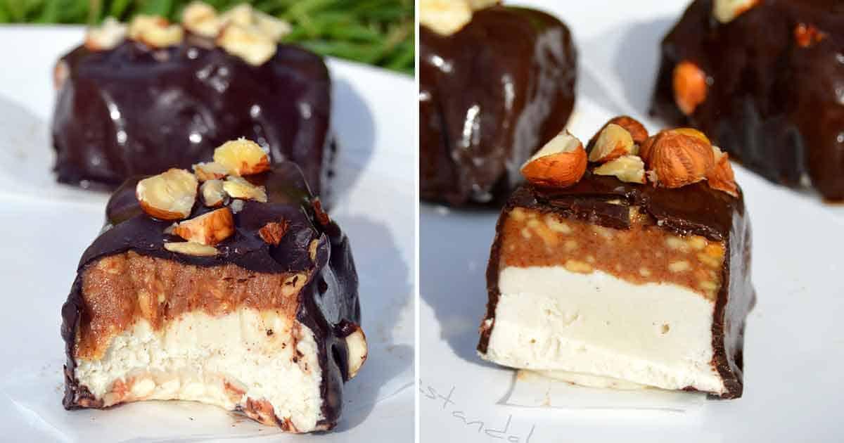 Healthy Snickers Ice Cream Bars 6 Ingredients Vegan