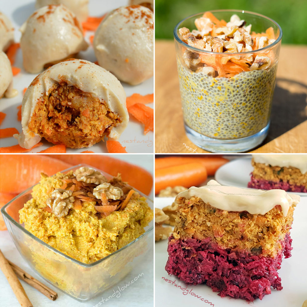 healthy vegan carrot cake recipes that all taste great and are high in nutrition. free of daily, gluten, eggs, flour and sugar!