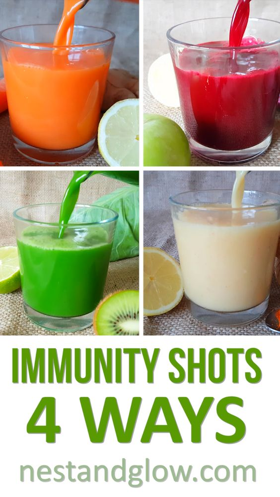 Make your own healthy immunity shots in minutes without a juicer. By just having the juice without the fiber it's absorbed quickly and if you're having a healthy diet it's easy to eat too much fiber. #juice #greenjuice #naturaljuice #juicecleanse