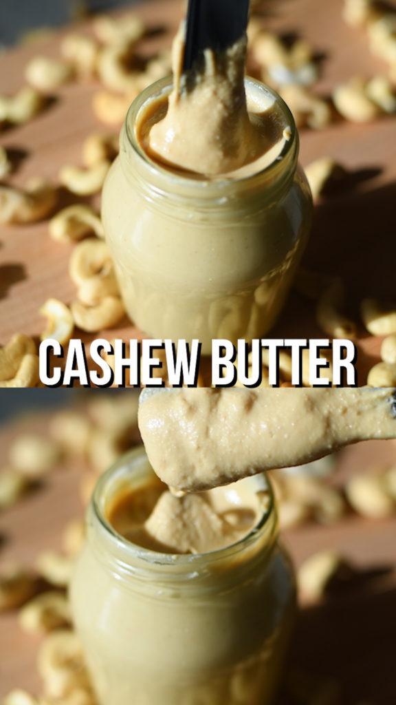 Homemade raw cashew butter recipe using a high speed blender