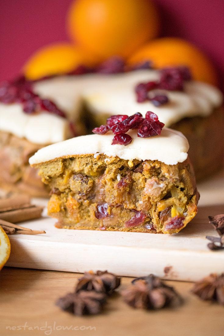 Quinoa Fruit Cake - vegan and gluten free