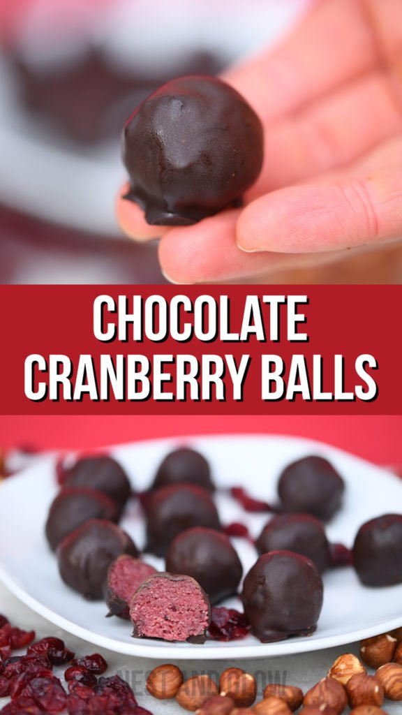 chocolate cranberry balls healthy vegan and sugar free sweets that are full of goodness