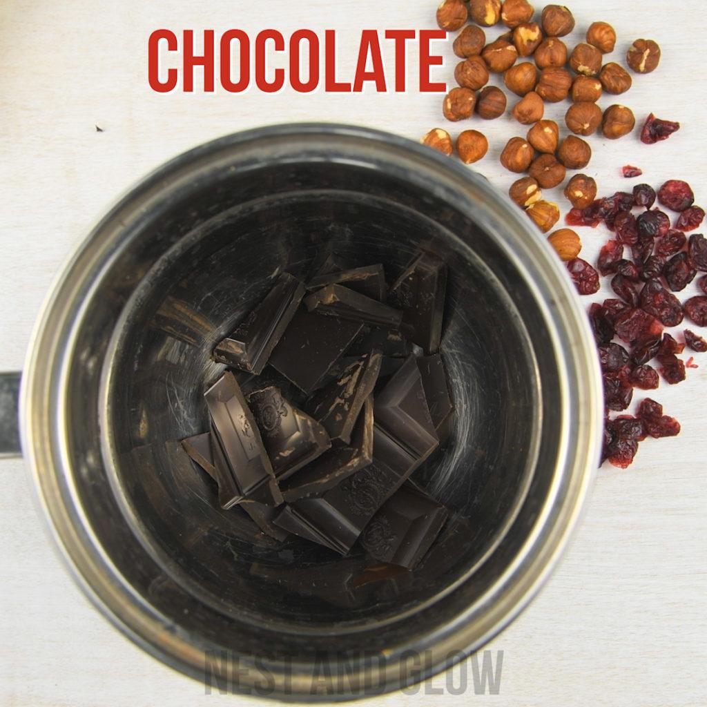 melt chocolate using a bain marie