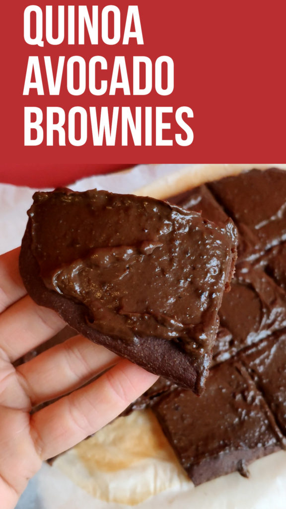quinoa avocado chocolate brownies recipe that's easy to make and full of good fats